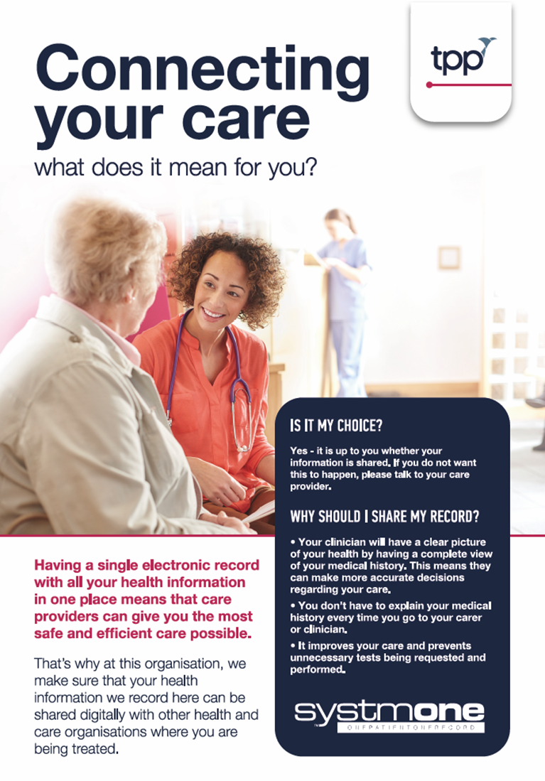Connecting your care poster